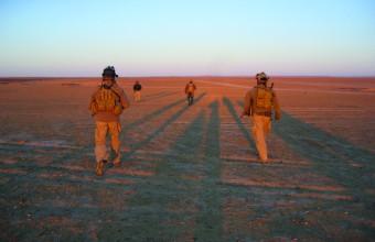 En tøff dag ørken