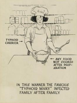 Tyfus-Mary smittet mange
