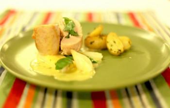Rullet kyllingbryst med ost og spinat